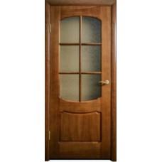 Межкомнатная дверь Свобода 750 Итальянский орех 12.01 полотно с осеклением решетка вид стекла ст.1 (2000х900) коллекция Valdo