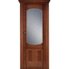 Межкомнатная дверь Свобода 750 Итальянский орех 12.01 полотно c полотно с осеклением вид стекла ст.3 (2000х900) коллекция Valdo