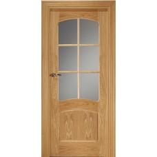 Межкомнатная дверь Свобода 757 Светлый дуб 00.03 полотно с осеклением решетка вид стекла ст.1 коллекция Valdo