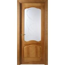Межкомнатная дверь Свобода 781 Орех 06.01 полотно c полотно с осеклением вид стекла ст.6 (2000х900) коллекция Valdo