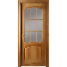 Межкомнатная дверь Свобода 781 Орех 06.01 полотно с осеклением решетка вид стекла ст.1 ПОР 2 коллекция Valdo