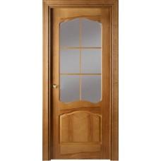 Межкомнатная дверь Свобода 781 Орех 06.01 полотно с осеклением решетка вид стекла ст.1 (2000х900) коллекция Valdo