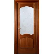 Межкомнатная дверь Свобода 782 Шпон красного дерева светлый 00.04 полотно с осеклением вид стекла ст.6 коллекция Valdo