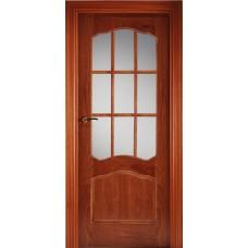 Межкомнатная дверь Свобода 782 Шпон красного дерева светлый 00.04 полотно с осеклением решетка вид стекла ст.1 ПОР 2 коллекция Valdo