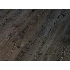 Паркетная доска Timberwise коллекция Однополосная Дуб рустик Черно-белый брашированный 185 мм