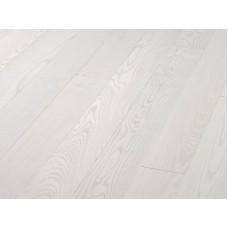 Паркетная доска Timberwise коллекция Однополосная Ясень классик Снежно-белый шлифованный