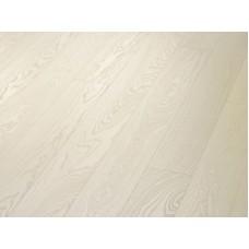 Паркетная доска Timberwise коллекция Однополосная Ясень селект Белый