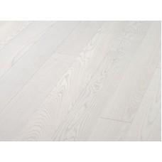 Паркетная доска Timberwise коллекция Однополосная Ясень селект Снежно-белый шлифованный