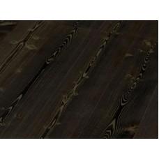 Паркетная доска Timberwise коллекция Однополосная Лиственница Эбен Черная брашированная