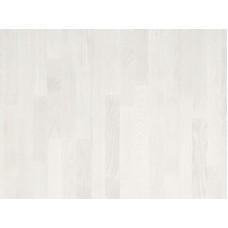 Паркетная доска Timberwise коллекция Трехполосная Ясень классик Снежно-белый брашированный