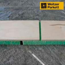 Многослойная виброрейка с демпферующим полиуретановым слоем для спортивных полов Weitzer Parkett Multisport M47 Herringbone (Австрия) (укладка елочкой)