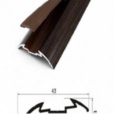 Порог алюминиевый Wonderful Vinyl Floor одноуровневый GA1 длина 1,8м 03-6