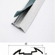 Порог алюминиевый Wonderful Vinyl Floor одноуровневый GA1 длина 1,8м 19-2