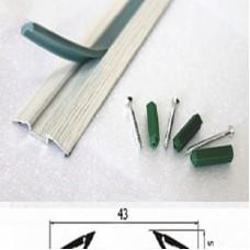 Порог алюминиевый Wonderful Vinyl Floor одноуровневый RGA2 длина 0,9м 19-2